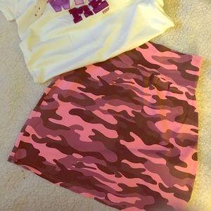 Pink Camo skirt New Victorias Secret PINK S/M